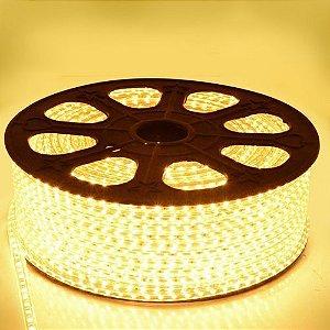 Mangueira Chata De LED 5050 - Rolo com 100 Metros - Branco Quente
