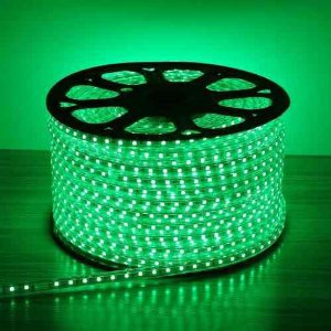 Mangueira Chata de LED - 100 Metros Rolo- 5050 - Verde
