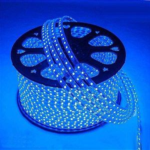 Mangueira Chata de LED 5050 Rolo 100 Metros 5050 Azul ( Tipo Fita Led )