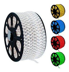 Mangueira Chata de LED - 100 Metros Rolo- 5050 - RGB