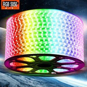 Mangueira Chata De LED 5050 Rolo com 100 Metros RGB