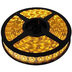 Fita LED SMD 3528 Amarela (Âmbar) sem Silicone IP20 5M 12V