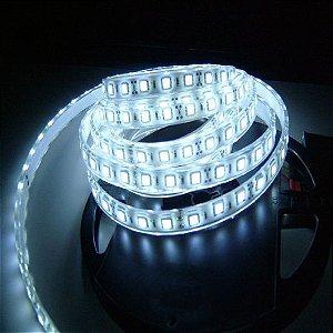 Fita LED SMD 5050 Branco Frio com Silicone IP65  5M  12V