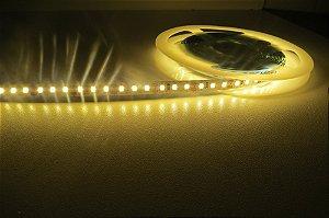 Fita 120 LEDs por metro 3528 Branco Quente com Silicone IP20 5M