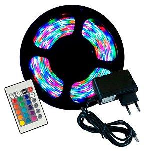 Kit Fita LED  5050 - RGB 130 Funções - c/ Controle Remoto