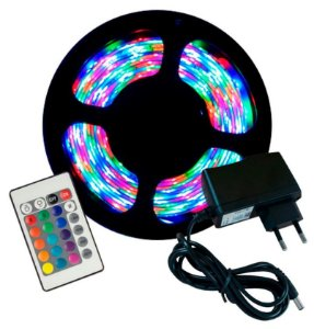 Kit Fita de Led RGB -5050 - 130 Funções- Cem Controle