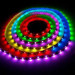 Kit Fita de Led RGB Digital 5050 - 130 Funções- Com Controle Remoto