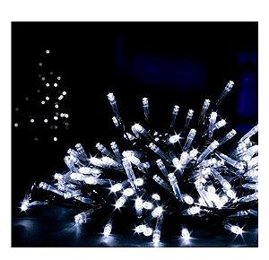 Cordão Fixo Com 1.000 Leds Fixo - Prova d'aguá - 100 Metros - Branco Frio