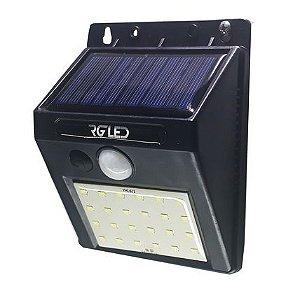Arandela Led Solar 3W Com Sensor de Presença - IP65