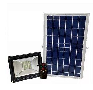 Refletor LED c/Placa Solar 20W IP65 - Branco Frio