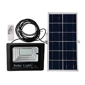 Refletor LED c/Placa Solar 60W IP65 - Branco Frio