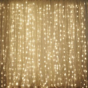 Cortina Fixo 900 LEDs - Branco Morno - 4Mx3M- (M/F)