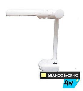 Luminária de Mesa Dobrável Branca 4w - Branco