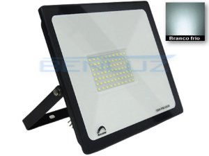 Refletor Super LED 100W Slim Branco Frio à prova d'água