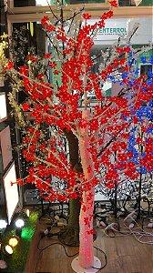 Árvore de Cerejeira Led 596 Led's - 1,80 Metros - Vermelha