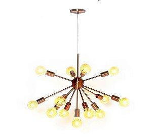 Lustre Pendente Moderno Sputnik Bronze