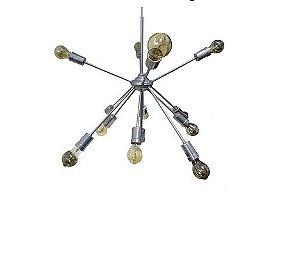 Lustre Pendente Moderno Sputnik Titanio