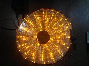 Mangueira de LED - 10 Metros Rolo - Amarelo (Ambar) - 5 Funções