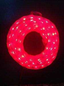 Mangueira Corrugada de LED - 10 Metros Rolo - Vermelho - 5 Funções-220V