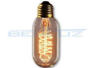 Lâmpada LED 40W T45 Filamento Carbono Espiral 127V
