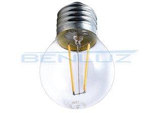 Lâmpada Bubo LED 4W Mini Bolinha Filamento Branco Frio Bivolt