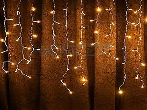 Cascata Fixa com 100 LEDs Fio Branco 2,5 Metros Branco Morno 220V