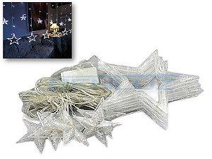 Cascata de Estrelas 138 LEDS com 8 Funções Branco Frio 220v