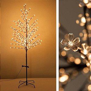 Árvore Cerejeira de led Branco Quente  Bivolt - 110cm