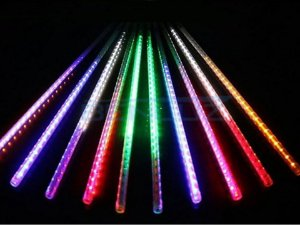 Tubo LED Snow Fall Sequencial com 8 Tubos 50CM colorido Bivolt