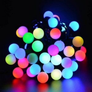 Conjunto com 20 Bolas de Led Coloridas  Bivolt Para decoração