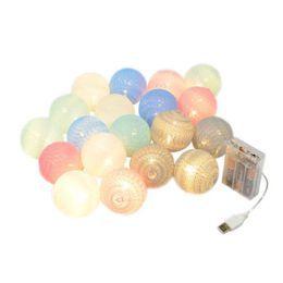 Detalhes de Cordão Fio de Luz Colorido LED com 15 Bolinhas