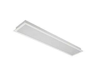 Luminaria Comercial Embutir Difusor Leitoso - 2x14/16/20w