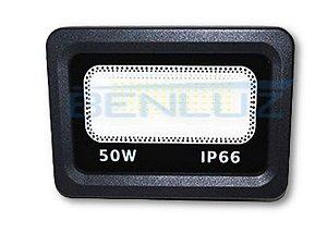 Refletor Mini Power LED SMD 50W - Branco Frio A Prova d'água