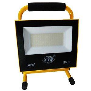 Refletor LED Recarregável 60W - Branco Frio