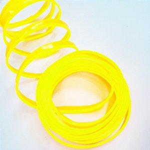 Fita LED Tubo Neon Amarela Blindada 5M 12V