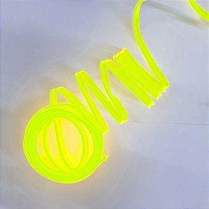 Fita de Led Tubo Neon Verde Fluorescente 12V 5 Metros Blindada