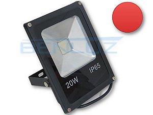 Refletor Holofote de LED 20W - Vermelho