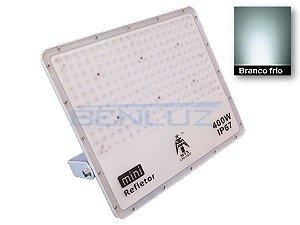 Refletor Holofote Branco LED 400W Branco Frio A Prova d'água