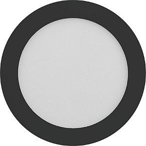Painel Plafon LED 18W de Embutir 22x22 Borda Preta Branco Quente