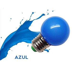 Lâmpada Bulbo 1W LED Bolinha Azul 127V