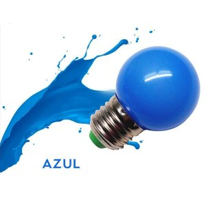 Lâmpada Bulbo 1W LED Bolinha Azul 220V