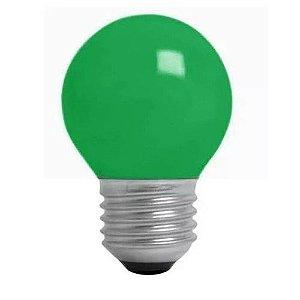 Lâmpada Bulbo 1W LED Bolinha Verde 127V