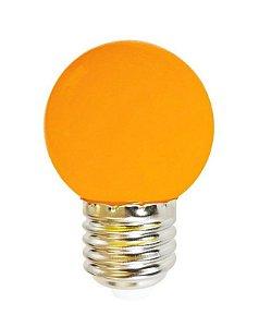 Lâmpada Bulbo 1W LED Bolinha Laranja 127V