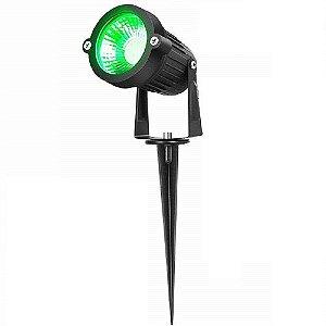 Espeto de Jardim LED - 7W - Preto - Luz Verde -  Bivolt