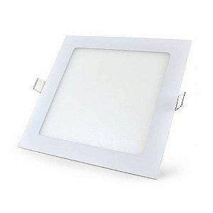 Luminária Painel Plafon LED 24W de Embutir Quadrado 30x30 Branco Morno