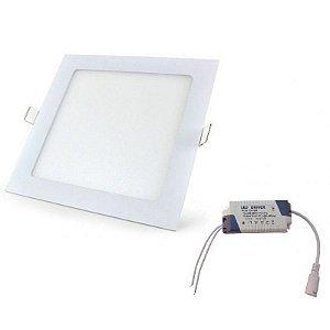 Luminária Painel Plafon LED 15W de Embutir 19X19 Branco Quente