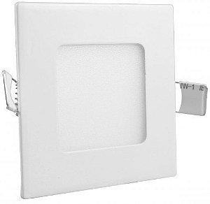 Luminária Painel Plafon LED 3W de Embutir 8x8 Branco Frio