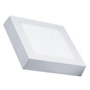 Luminária Painel Plafon LED 6W de Sobrepor 12x12 Branco Frio