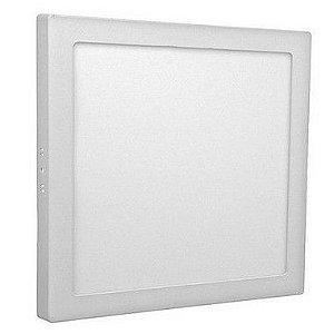 Luminária Painel Plafon LED 18W de Sobrepor 22x22 Branco Quente