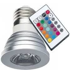 Lâmpada LED Dicroica - RGB 3W - MR16